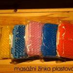 masážní žínka plastová