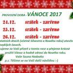 provozní doba vánoce 2017